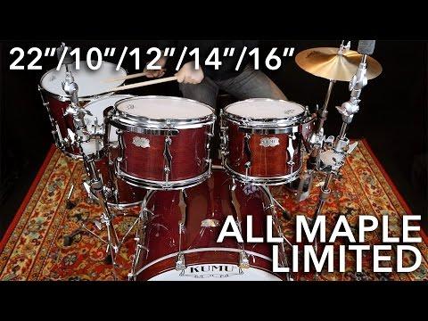 """KUMU All Maple Limited 22""""/10""""/12""""/14""""/16"""" – 3 TUNINGS"""