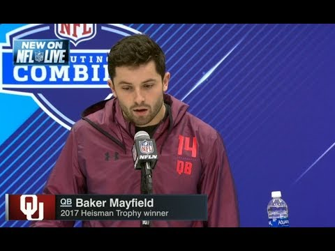 Baker Mayfield on NFL Scouting Combine | NFL Live 2018 Combine | Mar 2, 2018