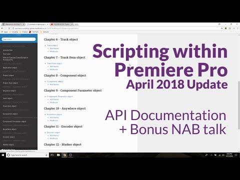 Premiere API Documentation - Quick Update