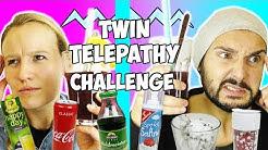 TWIN TELEPATHY CHALLENGE Bestes Getränk der WELT | Milchshake Saft ZWILLINGE? Cola & Milch mischen?