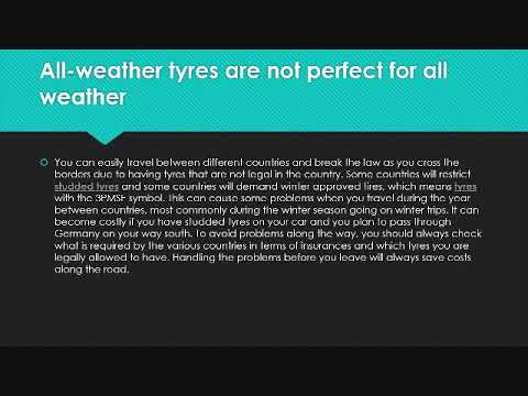 All-weather tyres are not perfect for all weather