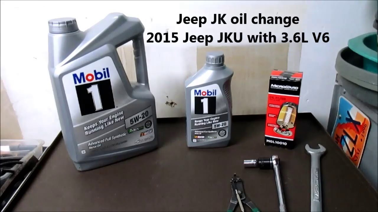 2015 jeep jk wrangler oil change - youtube