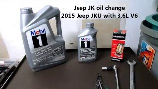 2015 Jeep JK Wrangler Oil Change