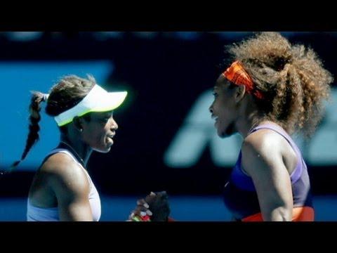Sloane Stephens, 19, Beats Serena Williams
