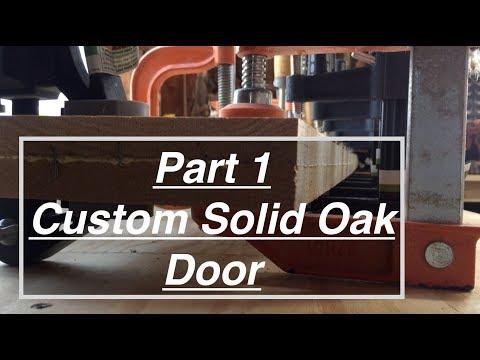 diy-interior-door-build.-preparing-door-pieces,-gluing-oak-boards.