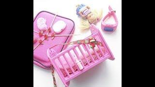 Вязаный матрас крючком для кровати для куклы, вязание для кукол от Вяжем с Мелкой