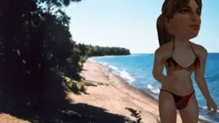 Young Skinny Girl  In A Bikini On A Private Beach  Mmmmm !!!!!!!!  Techno Electro House