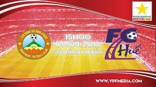 binh phuoc vs clb bong da hue - vong 1 giai hnqg 2016  full