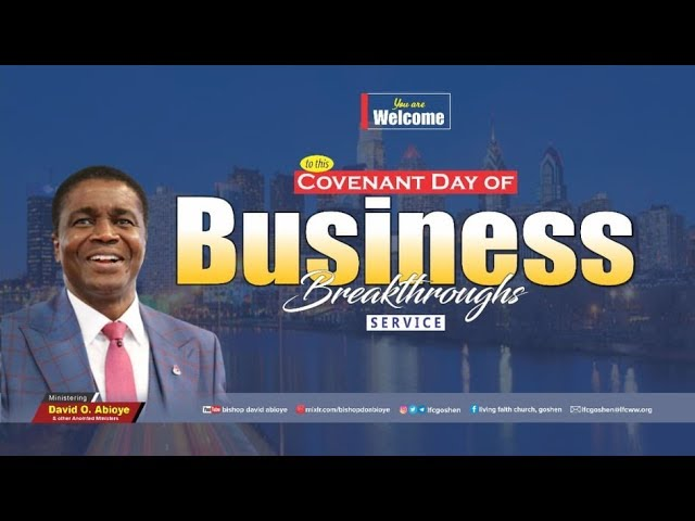 COVENANT DAY OF BUSINESS BREAKTHROUGH - 1st SERVICE (5.7.20)