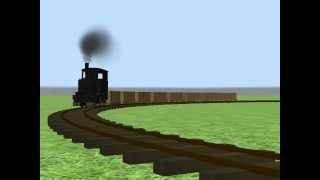 【RailSim2】働く蒸気機関車【大日本軌道】