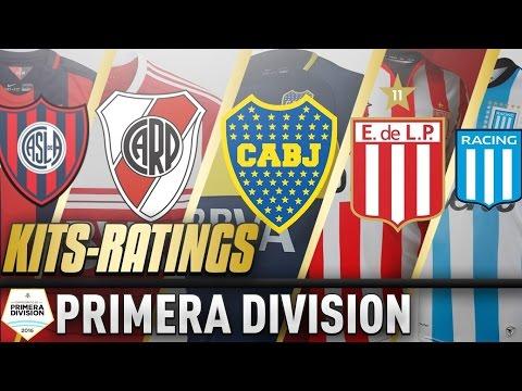 FIFA 17 Liga Argentina Kits & Ratings