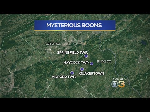 Police Investigate Mysterious Booms Reported In Bucks & Lehigh Counties