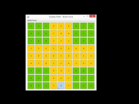 java sudoku solver with brute force algorithm en youtube