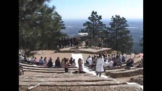 Sunrise Amphitheater on Flagstaff Mountain, Boulder Colorado Wedding 2005
