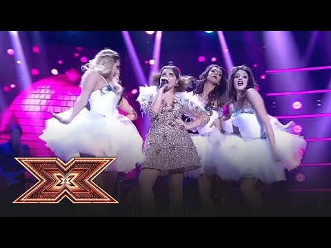 "Finala X Factor 2018. Ioana Bulgaru cântă melodia ""Girls Just Want To Have Fun"""