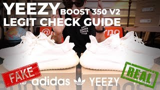 How to Legit Check Yeezy Boost 350 V2 REAL vs FAKE How to Spot Fake Yeezys Fake Education YEEZY GOD