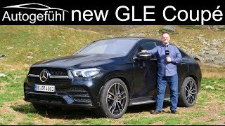 all-new Mercedes GLE Coupé details and driving technology insight! 400d vs 53 AMG