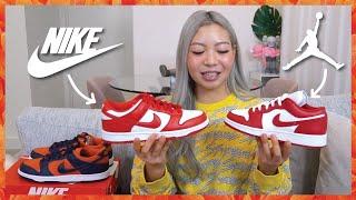 Jordan 1 Low 'Gym Red' VS Nike Dunk Low