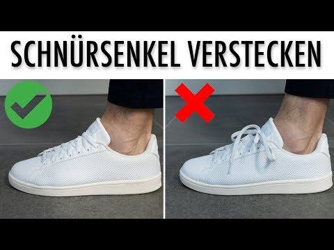 Sneaker Schnürsenkel Verstecken