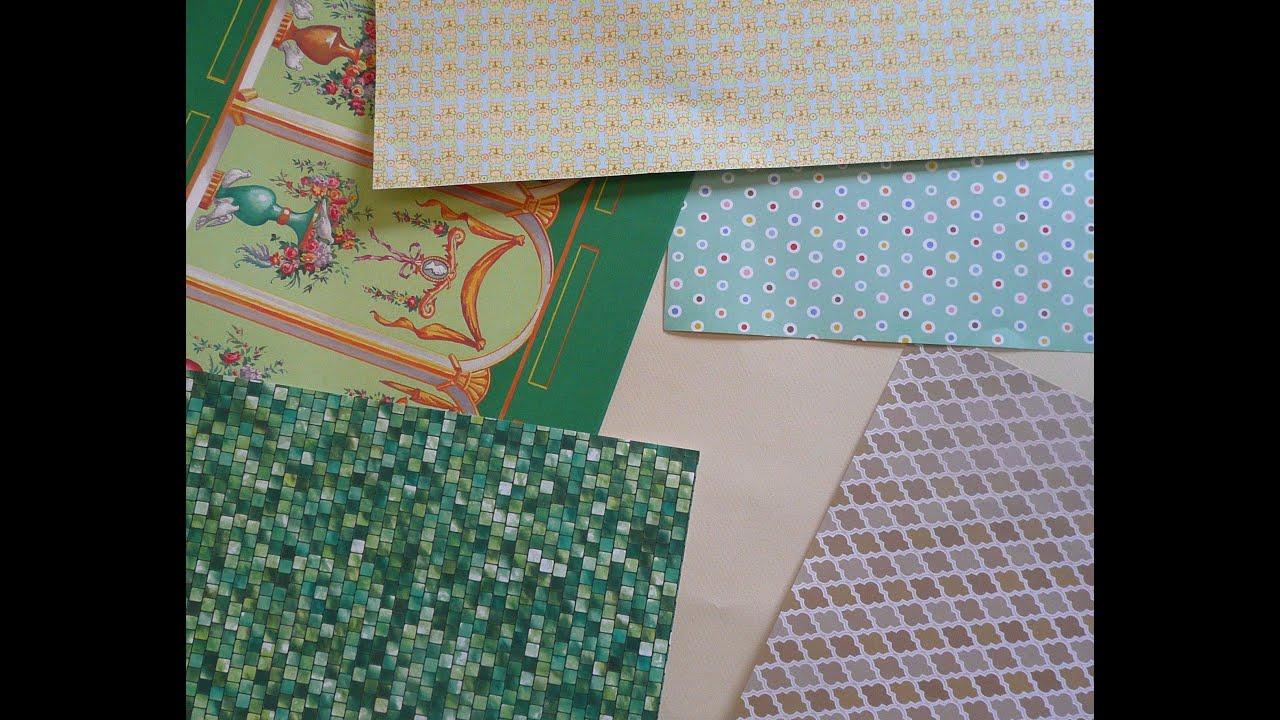 Scrapbook paper dollhouse wallpaper - Dollhouse Wallpaper 101