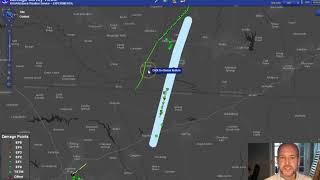 Monday's Tornado tracks and damage paths