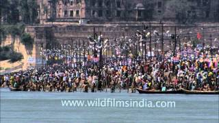 A sea of pilgrims converged at Sangam for a holy dip, Allahabad