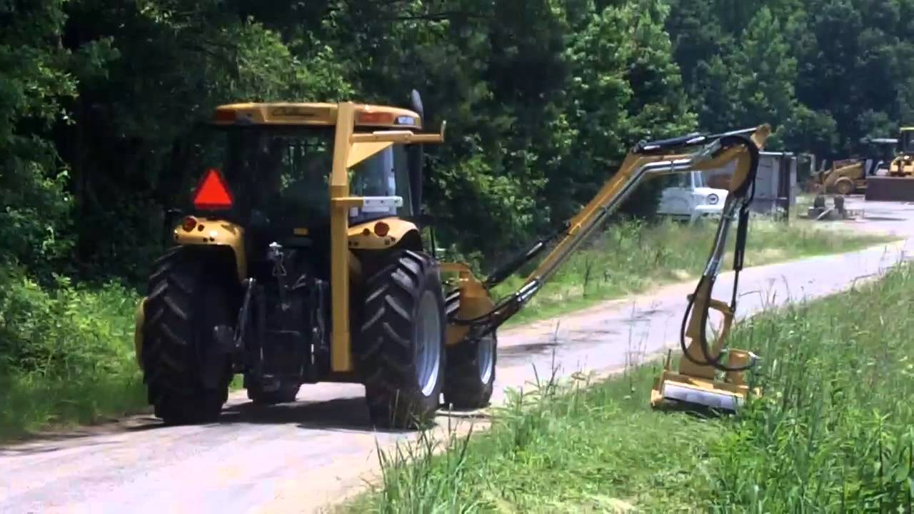 Challenger Mt455b With 23 Diamond Boom Mower Youtube