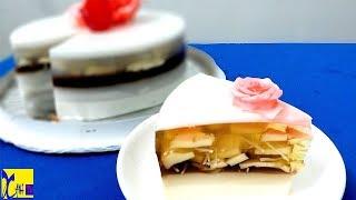 Cận cảnh cách làm Bánh Sinh Nhật rau câu nhân bánh Flan ngon mê ly ngay tại nhà l Xanh TV