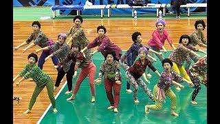 登美丘高校ダンス部OG  2018.12.1  Vリーグ神戸開幕戦 「おばちゃんダンス」 アカネキカク/Tomioka Dance Club