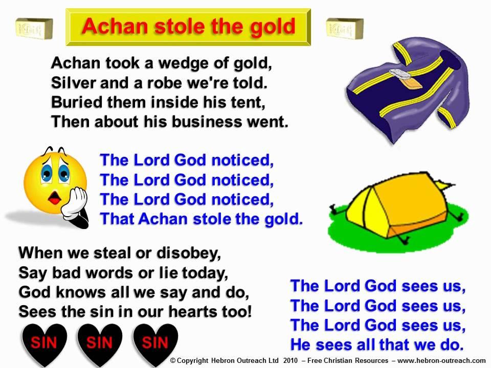 Achan Stole The Gold - Chorus - hebron-outreach.com - YouTube