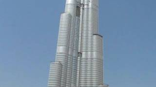 The Building of Burj Khalifa Tower, Dubai Oct 9 2008