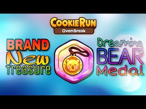 Cookie Run: OvenBreak SEASON 3   NEW  Dreaming Bear Medal Treasure!   HD Quality