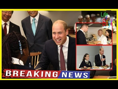 Prince William  asks schoolchildren if they like Chinese food – at the opening of a cultural centre