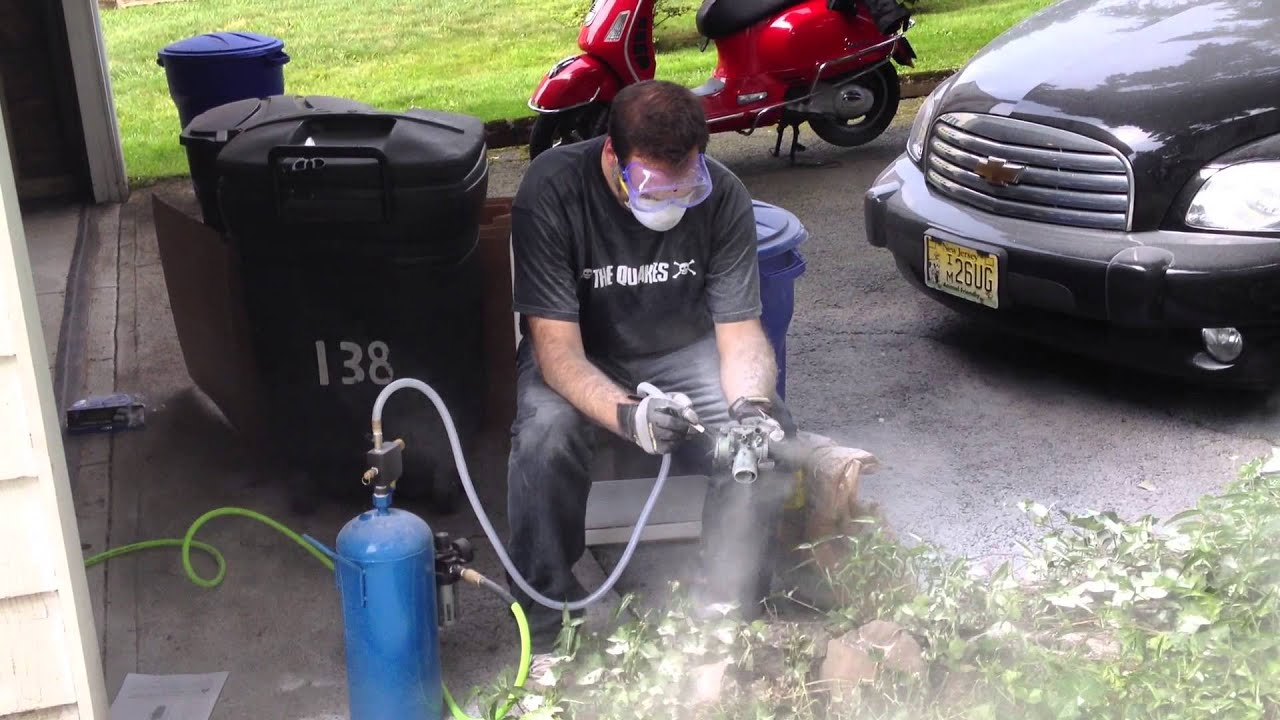 Looking Cool And Soda Blasting Carbs   YouTube