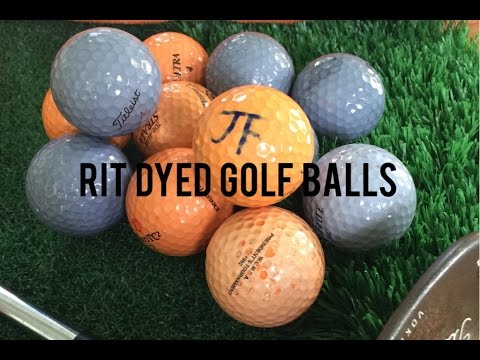 School Colors Rit Dyed Golf Balls Youtube
