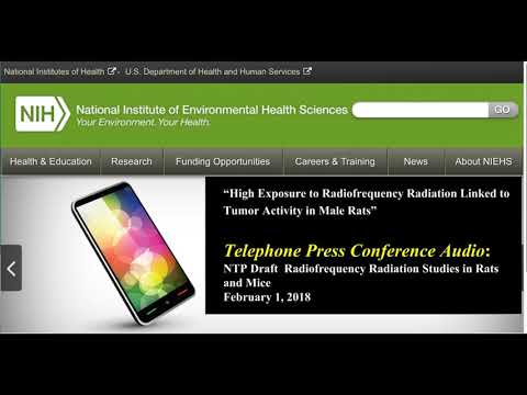NIH Press Conference 2/1/2018 National Toxicology Program Study on Cell Phone Radiation and Cancer