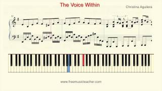 "How To Play Piano: Christina Aguilera ""The Voice Within"" Piano Tutorial by Ramin Yousefi"