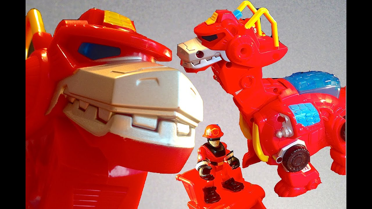 Electronic Heatwave Dinobot Transformers Rescue Bot