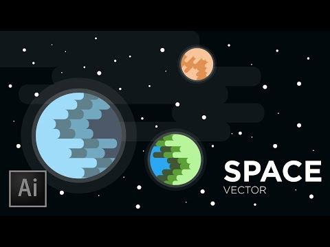 Space & Planets Vector Illustration  | Adobe Illustrator Tutorial thumbnail