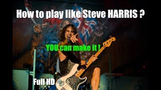 How to play like Steve Harris? 2 simple rules! by DIDJE59
