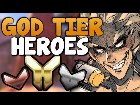 GOD TIER Heroes in Bronze / Silver / Gold / Platinum (Overwatch Competitive Season 6)