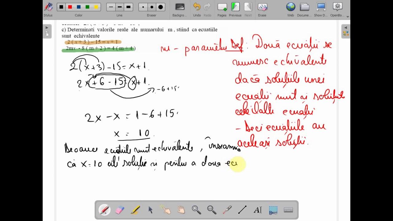 Probleme rezolvate rezolvarea ecuatiilor in forma generala clasa a VII a ( www.supermeditatii.ro)