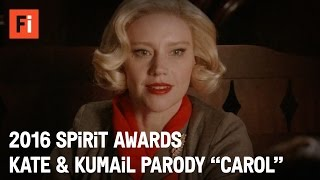 Repeat youtube video CAROL parody - Kate McKinnon & Kumail Nanjiani | 2016 Film Independent Spirit Awards
