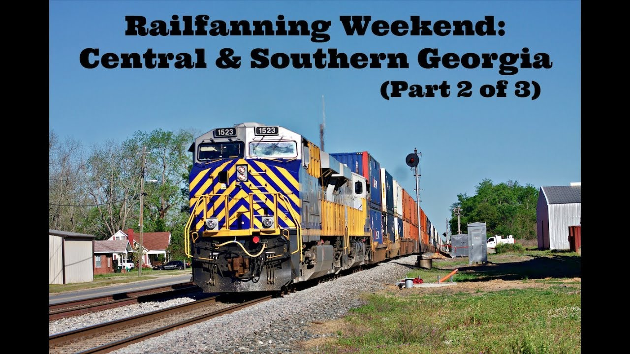 1080p HD: NS, CSX, & Heart of Georgia Railroad - Railfanning Central &  Southern GA - April 1, 2017