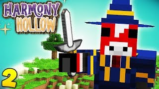 BECOMING A WIZARD! Minecraft Harmony Hollow EP2 - Modded SMP S4