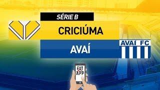 CRICIÚMA 3X2 AVAÍ -  BRASILEIRÃO SÉRIE B 2018 (AO VIVO)  - 27ª RODADA | 15/09/2018
