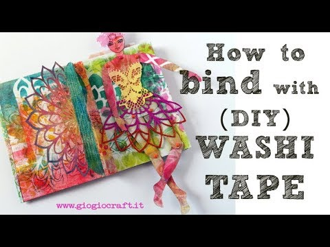 How to bind with DIY Washi Tape