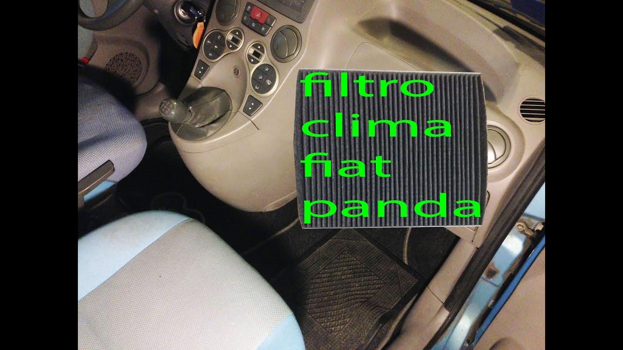 Cabin Air Filter >> Sostituzione filtro climatizzatore Fiat Panda seconda ...