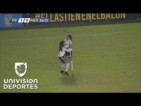 ¡Gol olímpico en el Universitario! Liliana Mercado hace el 3-0 de Tigres sobre Pachuca
