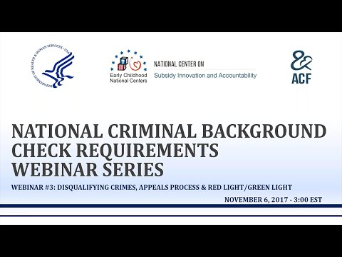 Webinar #3: Disqualifying Crimes, Appeals Process, & Red Light/Green Light